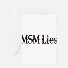 Main Stream Media Lies Greeting Card