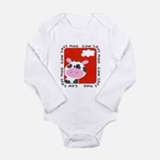 Cow Says Moo Long Sleeve Infant Bodysuit