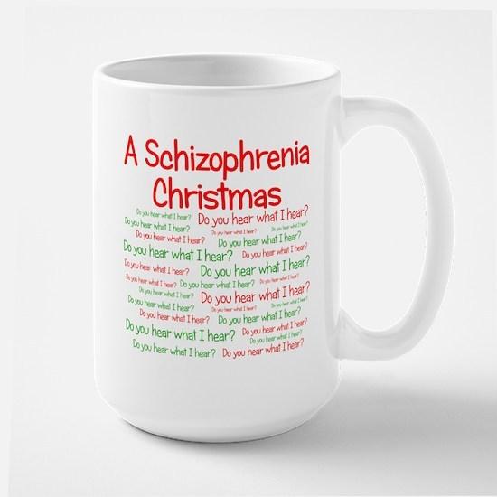 Schizophrenia Christmas Large Mug
