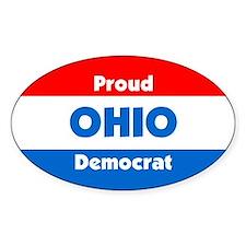Proud Ohio Democrat Oval Decal