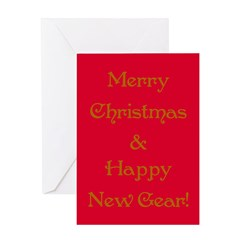 Happy New Gear Greeting Card
