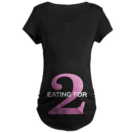 eating for 2 Maternity Dark T-Shirt