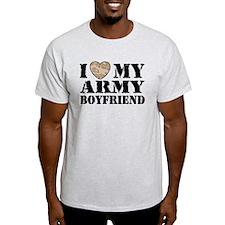 I Love My Army Boyfriend T-Shirt