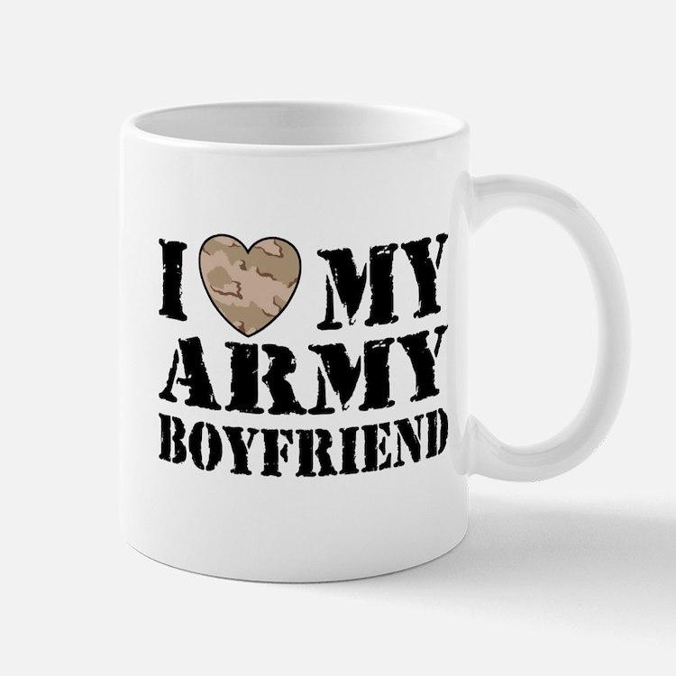 I Love My Army Boyfriend Mug