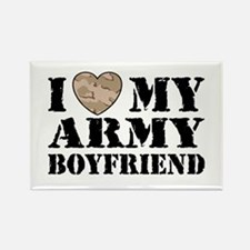 I Love My Army Boyfriend Rectangle Magnet