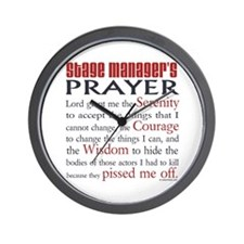 Stage Manager's Prayer Wall Clock
