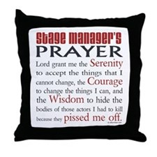 Stage Manager's Prayer Throw Pillow