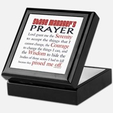 Stage Manager's Prayer Keepsake Box
