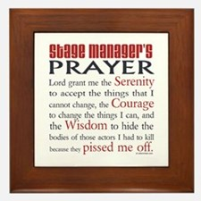 Stage Manager's Prayer Framed Tile