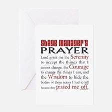 Stage Manager's Prayer Greeting Card