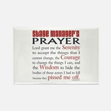 Stage Manager's Prayer Rectangle Magnet (100 pack)
