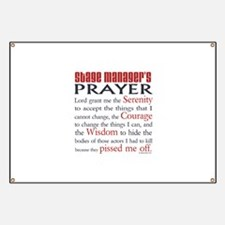 Stage Manager's Prayer Banner