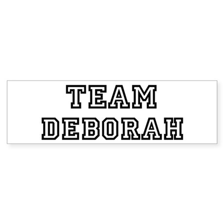 Team Deborah Bumper Sticker