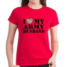 I Love My Army Husband Tee