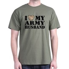 I Love My Army Husband T-Shirt