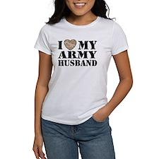 I Love My Army Husband Tee