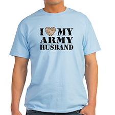 I Love My Army Husband T-Shirt