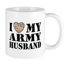 I Love My Army Husband Small Mug
