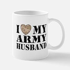 I Love My Army Husband Small Small Mug