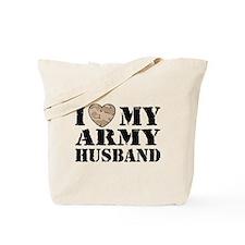 I Love My Army Husband Tote Bag