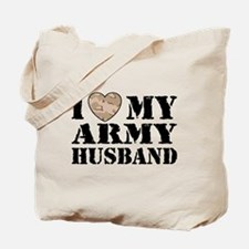 I Love My Army Husband Tote Bag