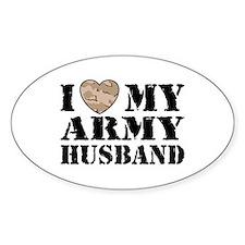 I Love My Army Husband Decal