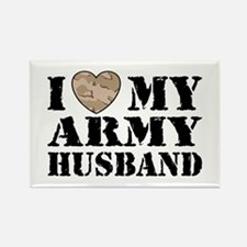 I Love My Army Husband Rectangle Magnet