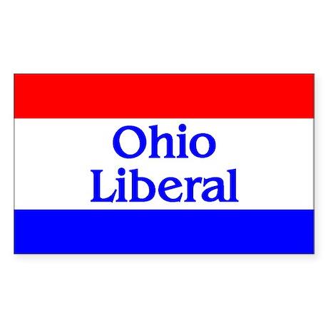Ohio Liberal Rectangle Sticker
