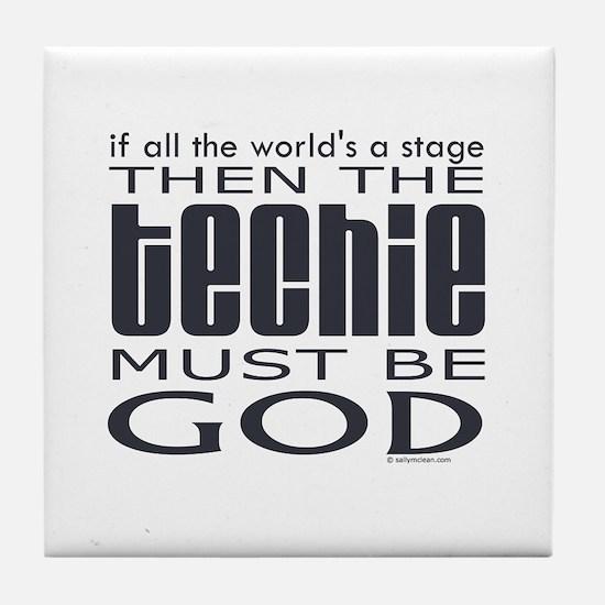 Techie God Tile Coaster