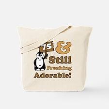 Adorable 75th Birthday Tote Bag
