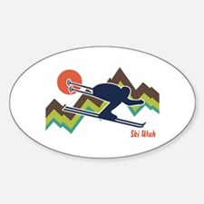 Ski Utah Sticker (Oval)