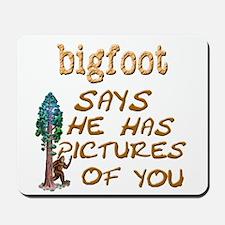 Bigfoot Has Pictures Mousepad