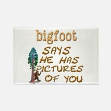 Bigfoot Has Pictures Rectangle Magnet