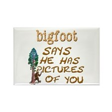 Bigfoot Has Pictures Rectangle Magnet (10 pack)