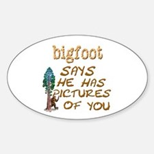 Bigfoot Has Pictures Decal