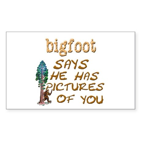 Bigfoot Has Pictures Sticker (Rectangle)