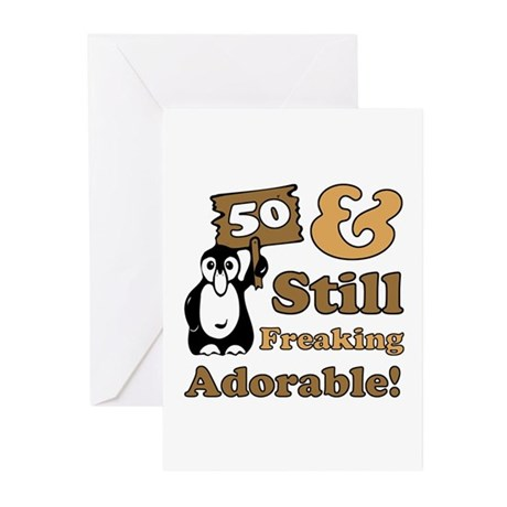 Adorable 50th Birthday Greeting Cards (Pk of 10)