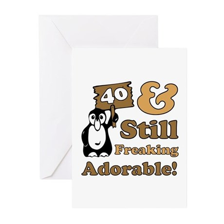 Adorable 40th Birthday Greeting Cards (Pk of 20)