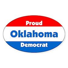 Proud Oklahoma Democrat Oval Decal