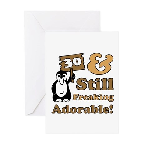 Adorable 30th Birthday Greeting Card