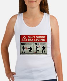 Don't Shoot the Living Zombie Women's Tank Top