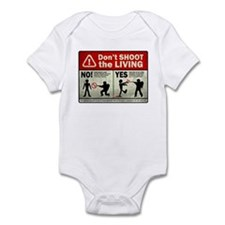Don't Shoot the Living Zombie Infant Bodysuit