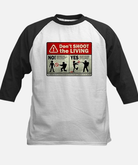 Don't Shoot the Living Zombie Kids Baseball Jersey