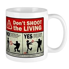 Don't Shoot the Living Zombie Mug