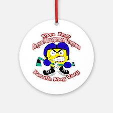 Anger Management Hockey Ornament (Round)