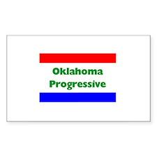 Oklahoma Progressive Rectangle Decal