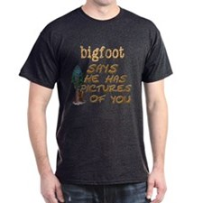 Bigfoot Has Pictures T-Shirt