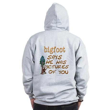 Bigfoot Has Pictures Zip Hoodie