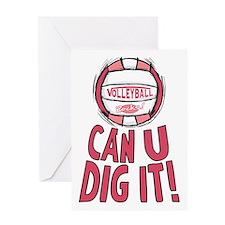 Can U Dig It Pink Greeting Card