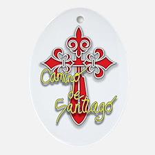 Camino De Santiago Ornament (Oval)